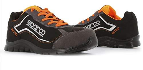 Sparco Scarpe Antinfortunistica Nitro S3 SRC Nero/Arancio - cod. 0752243NRGR - Nr. 43