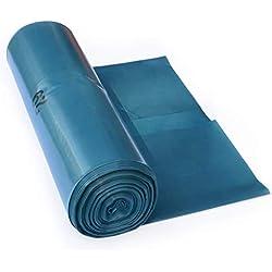 iLP Bolsas de basura 120 L – gran resistencia al desgarro – rollo de 25 – Tipo 100 extra – Sacos de basura XXL bolsas de basura – 70 μ – 700x1100 mm – LDPE – recogida de basuras perfecta para hogar, jardín, industrias, obra – azul