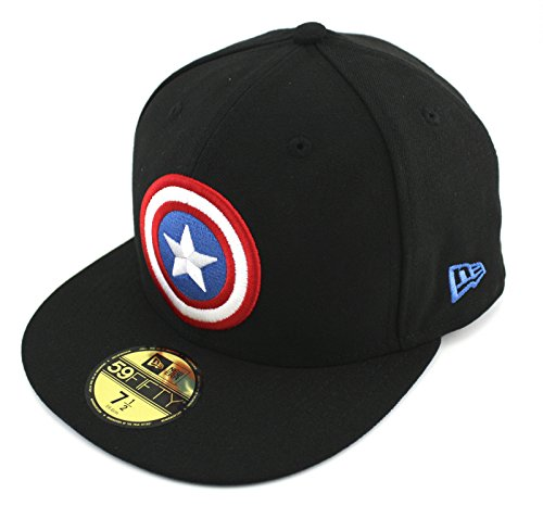 New Era Basic Badge Cap 7 1/4 captain america