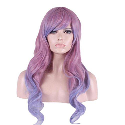 OOARGE Perücke langes gewelltes Haar Steigung Farbe Voll Perücke Hitzebeständige Cos Animation Europa Und Die Vereinigten Staaten Mode , (Seine Wikinger Und Kostüme Ihre)