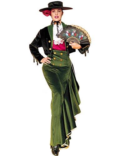 Spanische Senorita Kostüm für Damen Größe (Tänzerin Senorita Flamenco Halloween Spanische Kostüm)