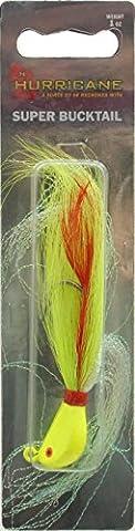 Hurricane Chartruese Striper Bucktail Jig 1 Ounce - Saltwater-Resistant Hook