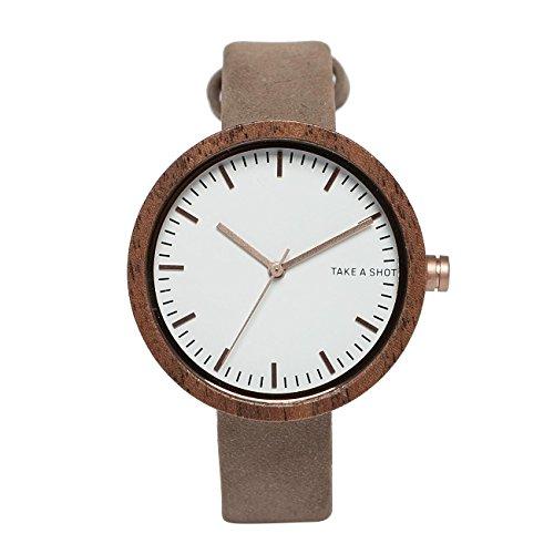TAKE A SHOT Damen Accessoires / Uhr Moira Walnussholz weiß Einheitsgröße