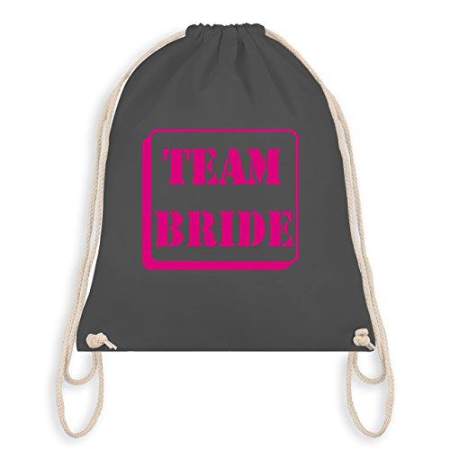 JGA Junggesellinnenabschied - Team Bride - Turnbeutel I Gym Bag Dunkelgrau