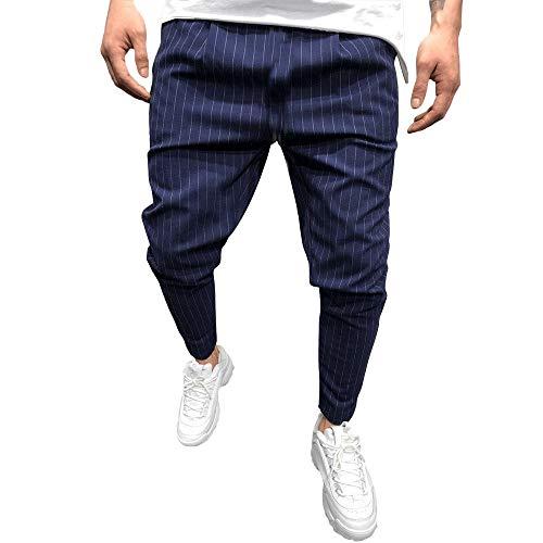 Kostüm Machen Hobo - DNOQN Outdoorhose Herren Freizeithose Leinenhose Mode Lässig Solide Verlieren Streifentasche Jogginghose Hose Jogger Hose