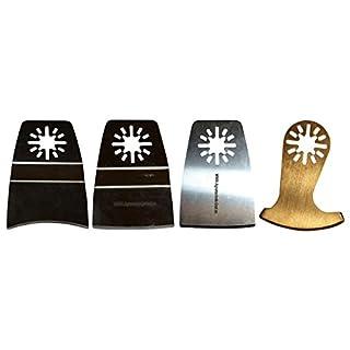 Agrartechnik-Graf Set aus 4 Schaber / Segmentmesser für Weiche Materialen für Fein Multimaster