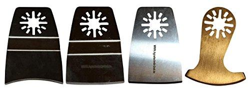 Agrartechnik-Graf Set aus 4 Schaber / Segmentmesser für Weiche Materialen für Makita BTM