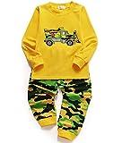 Little Sorrel Lange Ärmel Mond Stern Jungen Pajama Sets Baumwolle Kinder Nachtwäsche, 03-große Lastwagen, 92