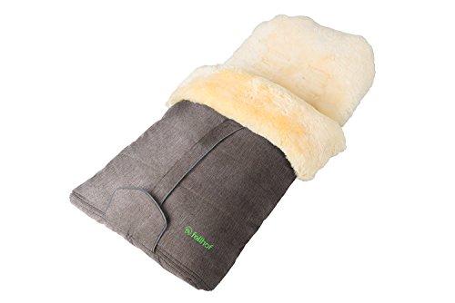 La Pelliccia Di 108308pelliccia di agnello Coprigambe cortina, lavabile fino a 30°C, Beige Melange