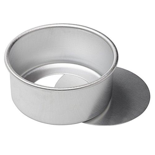 ,6cm rund Käsekuchen Pfanne aus eloxiertem Aluminium Chiffon Kuchen Form Backform mit herausnehmbarem Boden ()