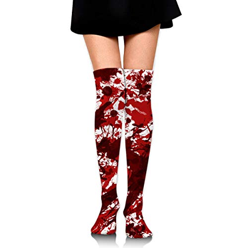 Scary Bloody Handprint Footprint Ankle Stockings Over The Knee Sexy Womens Sports Athletic Soccer Socks ()