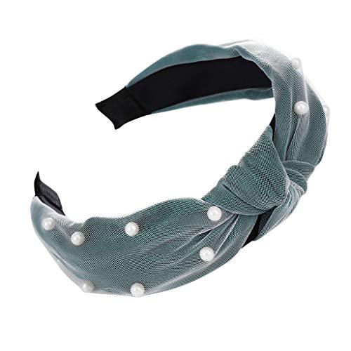 TOPGKD Ins heißer Verkauf Mode Bogen Knoten Print Haarband Frauen Haar Kopf Hoop Einfache süße Mädchen Stirnband (Grün) (Halloween Baum Dekoration Verkauf)