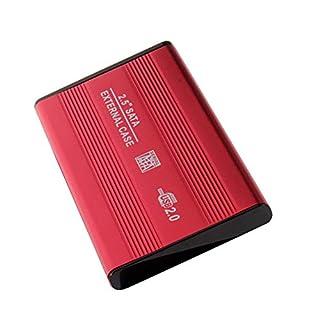 Dandeliondeme 2.5 inch USB 2.0 SATA External HDD Case Hard Disk Enclosure for Notebook Laptop USB Interface Red