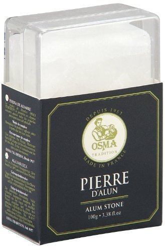 Osma Tradition Bloc – Handmade Alum Block (Soothes Shaving Irritation) With Clear Perspex Case 100g