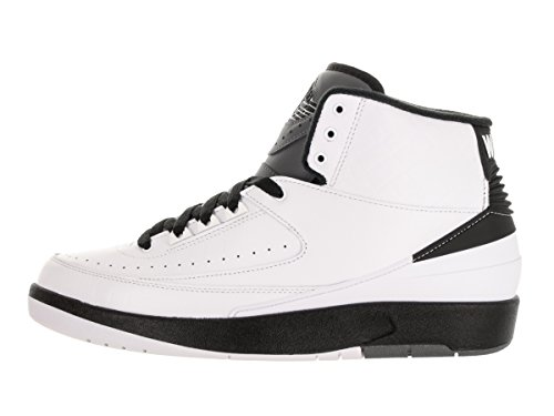 Nike Air Jordan 2 Retro, Scarpe da Basket Uomo Bianco (Blanco (White / Black-Dark Grey))