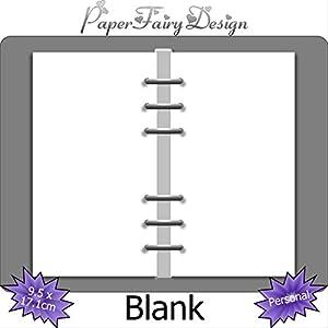Kalendereinlagen - Personal (9.5cm x 17.1cm) - Blank/Leer - 120g Premium Papier