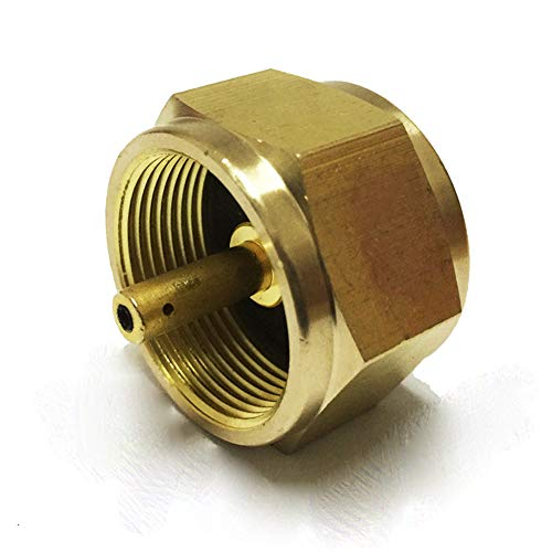 Outdoor Camping Gas Stove Adapter Connector Air Valve One-Piece Design Anti-Leakage Brass Passiv-Propision Propane Kraftstoff-Tank Tool Essentielle Zubehör - Propan Laterne