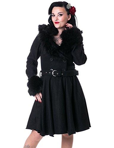 Rockabella -  Cappotto  - Basic - Maniche lunghe - Donna nero X-Large