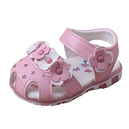 Alte Rosa Leder Schuhe (Hunpta Baby Sandalen Casual Blumen Schuhe Sneaker Anti-Rutsch Soft Sole Kleinkind (Alter: 12 ~ 18 Monate, Rosa))