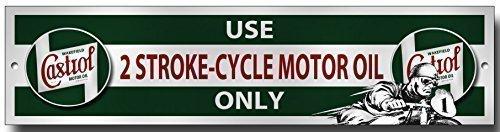 Castrol Usage 2 Cycle de course Huile Seulement métal panneau de garage pas cher