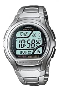 Casio Men's Quartz Watch with LCD Dial Digital Display, WV-58DU-1AVES - Silver (Stainless Steel)