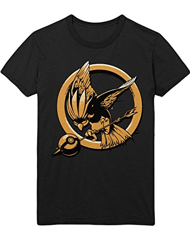 T-Shirt Poke Go Tauboga Spotttölpel C210003 Schwarz M