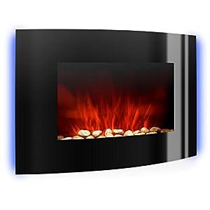 Klarstein Lausanne Elektrokamin – Kamin elektrisch mit 1000 / 2000 W Leistung, Elektro Kamin mit Flammensimulation, LED…
