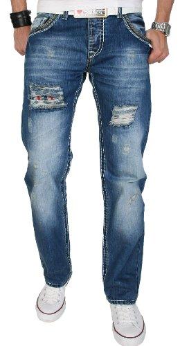 Creek rock vintage pantalon de designer pour homme jeans karostoff rC - 2052 Bleu - Bleu