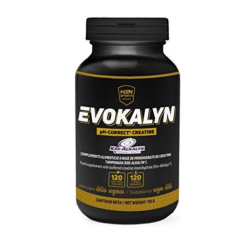 Creatina Alcalina Evokalyn de HSN Sports | Kre-Alkalyn | Para Aumentar la Masa Muscular, Fuerza y Resistencia | Sin Gluten, Sin Lactosa, Apta para Veganos | 120 Cápsulas