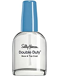 Sally Hansen Double Duty Strengthening Base and Top Coat, 13.3 ml, Packaging May Vary