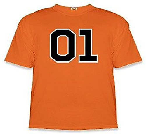 Dukes of Hazzard 01 General Lee T-shirt, orange