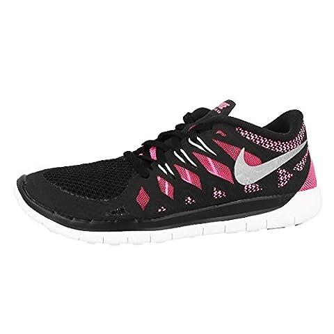 NikeFree 5.0, Hausschuhe für Jungen und Mädchen, schwarz - Nero(black/metallic silver/glow pink) - Größe: 38