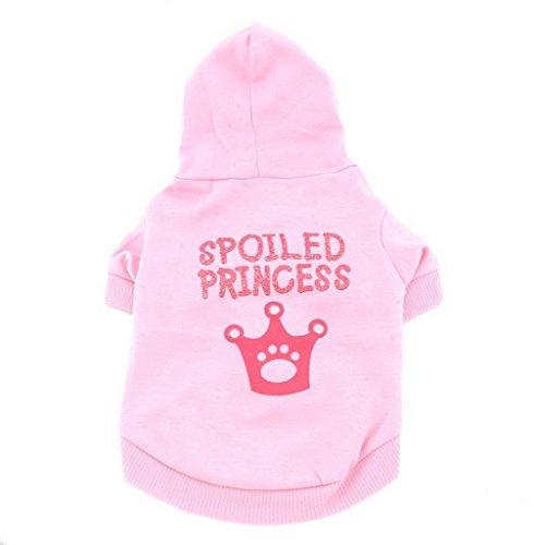 smalllee _ Lucky _ store klein Hund Hoodie Chihuahua Kleidung für Mädchen Krone Hoodie Shirt T-Shirt für Yorkshire Mops -
