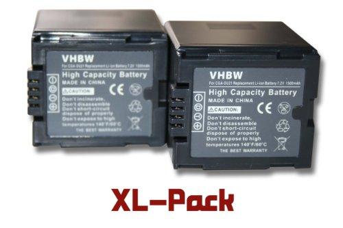 Gs500 Camcorder (2 x vhbw Akku Set 1500mAh für Camcorder Kamera Panasonic NV-GS400, NV-GS500, PV-GS50, PV-GS50S, PV-GS55, PV-GS70, PV-GS120, PV-GS200 wie CGA-DU21.)