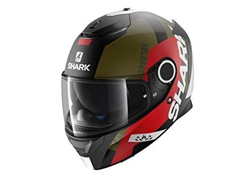 HE5036EKRGM - Shark Spartan Apics Mat Motorcycle Helmet M Matt Black Red Green (KRG)