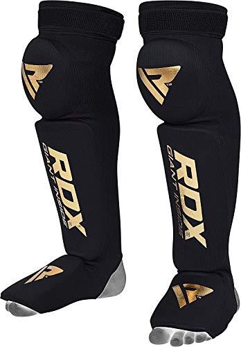 RDX Schienbeinschoner Boxen Spann Schaum Pad Knie Klammer Unterstützung Bein Wachen MMA Fuß Schutz Kickboxen Schutz (MEHRWEG) -