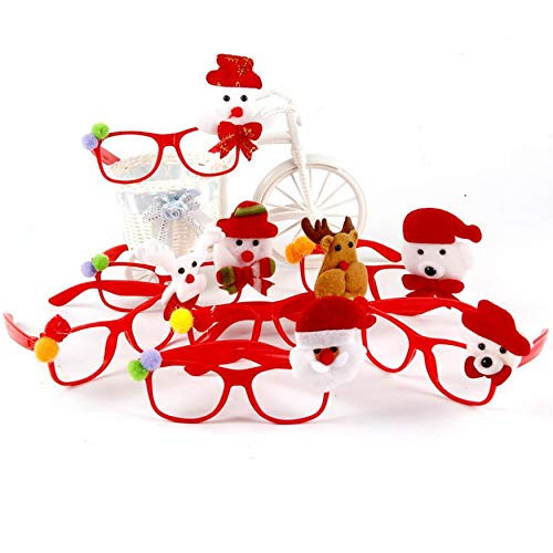 Yaoaomon Flashing Glasses Christmas Party Favors Light Up Shades Glasses for Kids Random Color Non-Woven Fabric 12pcs