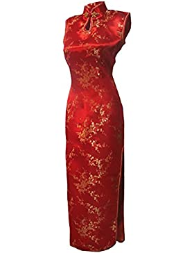 b4a7953138dc  Sponsorizzato 7Fairy Donna Rosso Cinese Matrimonio Abiti Qipao Floreale  Lungo Buco Della Serratura
