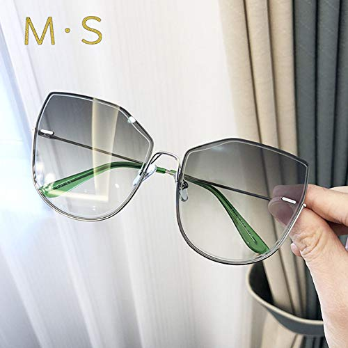 MOMOQU Sun Glasses Cat Eye Fashion Damen Sonnenbrille Vintage Sonnenbrille Big Full Frame Eyewear Damenbrille, C5