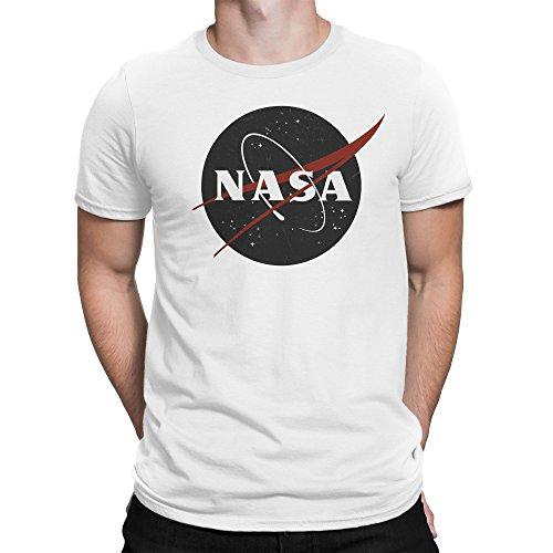 Vintage Retro Grunge NASA Logo Herren T-Shirt XL (Distressed Vintage-t-shirt)