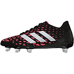 adidas Men's Kakari Elite SG Rugby Boots, Noir-Black (Negbas/Plamet / Rojimp), 9.5 UK