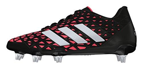adidas Kakari Elite Sg, Chaussures de Rugby Homme, Noir, UK Noir (Negbas/plamet/rojimp)
