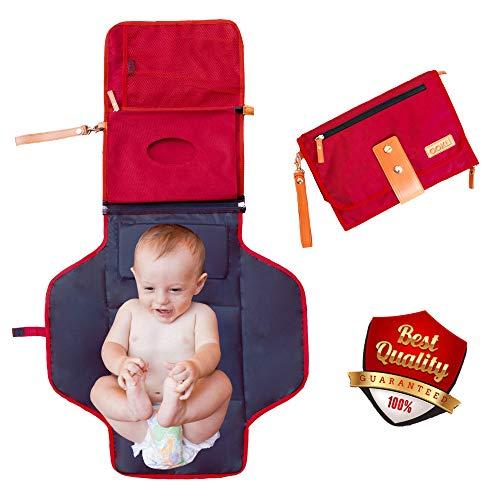 Fasciatoio Portatile Pieghevole Da Viaggio Per Neonato [Nuova Generazione] Impermeabile...