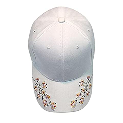 Casquettes De Baseball,OverDose Femmes Casquette Avec Fleur Broderie Embroidery Cotton Baseball Cap
