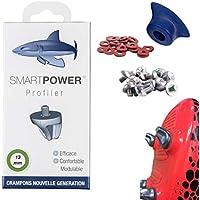 SMART POWER 12 Crampons Haute Performance de Rugby Aluminium 13 mm Accelerez Plus Fort, Soyez Plus Stable et gagnez en Confort !