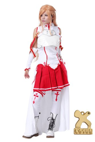 Sword Art Online Asuna Cosplay SAO Anime Yuuki Veste Jupe Halloween Costume Tenue Vêtements (M)