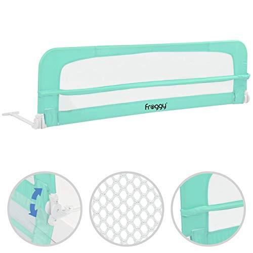 Bettgitter 180 cm Bettschutzgitter Kinderbettgitter Babybettgitter Gitter Kinderbett Fallschutz Bett Mint
