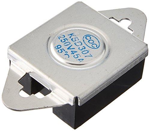 250V AC 45A 95C Celsius NC Temperatur Control Bimetall Thermostat ksd307