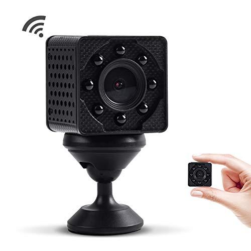 WiMaker WiFi Mini-Kamera, HD 4K WLAN tragbare kleine Überwachungskamera mit Bewegungserkennung, Nachtsicht, Remote-Monitor und Ansicht für iPhone/Android-Telefon/iPad/PC