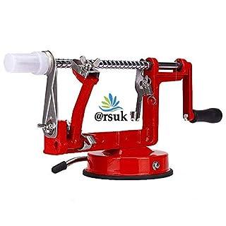 ARSUK Apple Peeler, Vegetable, Fruit Peeler, Pear Potato Slicer Corer, Peeling Machine (Red)